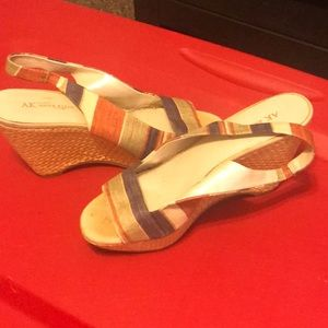 Anne Klein multi color wedges.